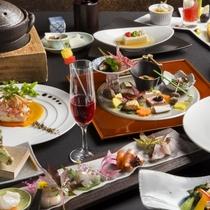 【2016秋のお献立】北海道産の食材を中心とした和洋会席。秋の旬味覚をお楽しみください