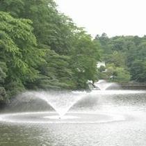 井の頭公園-池噴水