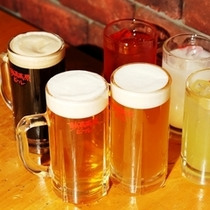 地ビール・サワー飲み放題(オプション販売)