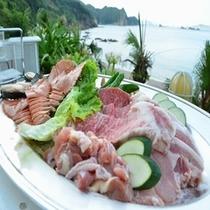 【贅沢三昧BBQコース一例】宮崎牛・はまゆうポーク・地頭鶏!まさに贅沢の極み!