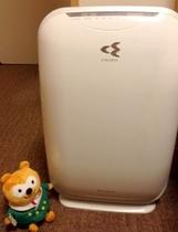 加湿空気清浄機は全室完備!お水を入れてからご利用下さいませ。(衛生上タンクへは入れておりません)