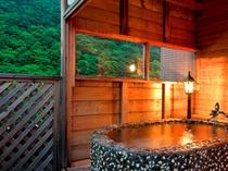 露天風呂付客室〜特別室のお風呂
