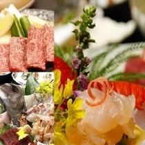 伊勢海老・鯛の姿造りにA4和牛陶板焼き♪※内容・盛付は季節仕入により変更します