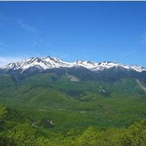 乗鞍岳と乗鞍高原を一望