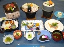 メイン料理が選べる期間限定料理の一例