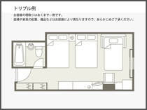 【間取り図】トリプル例 28.1平米