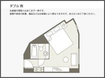 【間取り図】ダブル例 23.4平米
