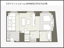 【間取り図】スタイリッシュルーム ジャパニーズモダンスタイル FUJI