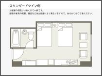 【間取り図】スタンダードツイン例 23.4平米