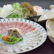 ■海鮮鍋の一例(選択鍋料理コース)