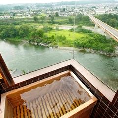 【特別室】一室限定■和室二間と広い踏込・天竜川を望む展望風呂