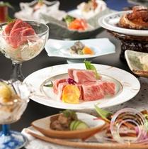 ■料理長渾身の【特別会席】南信州食べづくし。メイン-信州牛の鉄板焼