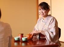 若女将のお茶サービス(不在で対応できない場合もございます、ご了承下さい)