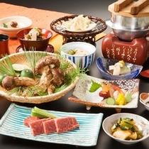 料理長渾身の【特別会席】秋の味覚、松茸会席をお楽しみください。