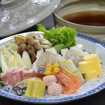 ■寄せ鍋の一例(選択鍋料理コース)