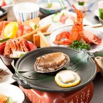 ■料理長渾身の【特別会席】奥駿河。鮑の陶板焼