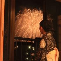 【夏の花火大会は8月3日4日】最上階和室か天然温泉付和室ならお部屋で花火鑑賞も