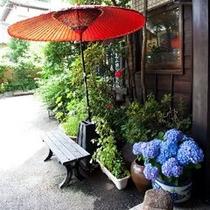 【外観】初夏の玄関前