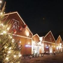 クリスマス期間中の金森倉庫群