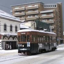 冬の路面電車