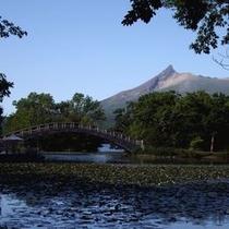 大沼湖畔と駒ヶ岳