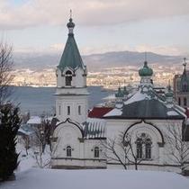 冬の元町教会群