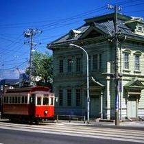 路面電車と旧相馬邸