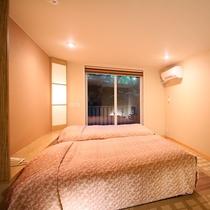 【デラックス・ツイン】畳スペース付き洋室 くつろぎの和モダン