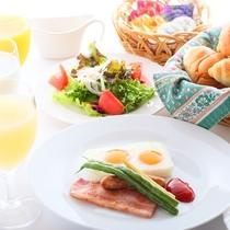 【朝食】朝から野菜たっぷり