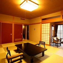 【露天風呂付和室~翠星~】琉球畳の和室