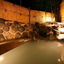 【風呂】露天風呂「万翆の湯・山翆の湯」アップ 夜