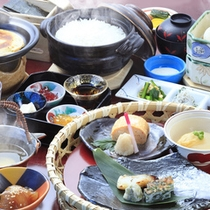 【朝食一例】出汁を中心に構成した拘りの朝食
