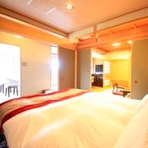 【温泉風呂付特別室~翠景~】ベッドルーム