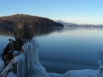 結氷前の屈斜路湖