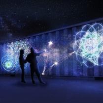 触れるとそこから流れ星が生まれる演出や、花火が打ち上がる演出など、見るだけではなく体感できるエリア。