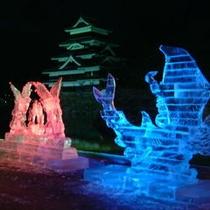 松本城 氷彫フェスティバル