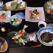 川魚を使ったお食事例