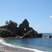 *周辺観光地:曽々木海岸(窓岩)