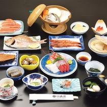 *お夕食一例(Bコース)/日本海の幸をふんだんに活かした料理の数々。