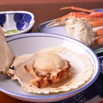 *お夕食一例(帆立貝)