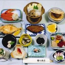 *当館のAコースのお食事一例