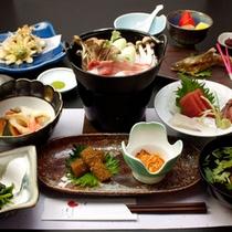 季節鍋プランのお料理イメージです。(メニュー内容は旬の食材などにより変わります)