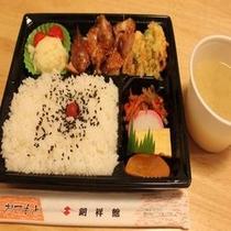 夕食弁当味噌汁付き