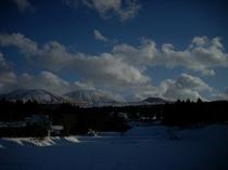 冬の阿蘇山