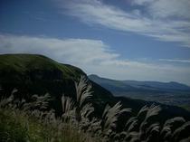 ミルクロードからの阿蘇山