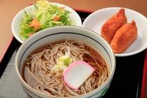 無料朝食【信州そば&いなり寿司2個】
