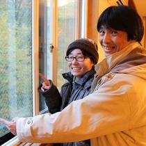 窓は二重サッシで寒くありません♪