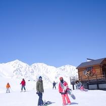 八方尾根スキー場(滑降スタートハウス)