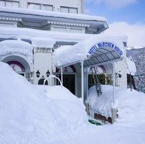 玄関冬景色
