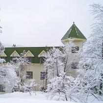 新館冬景色